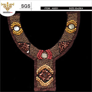 MIX-TOP-0251 High-grade colorful gravel hand-beaded collar