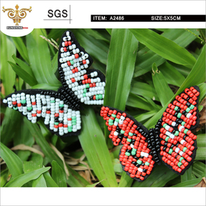 MIX-TOP-Realistic handmade beaded butterfly patch(A2486)