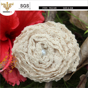 SUNSHINE-MG2189 fashion Ivory flower, made by crochet lace