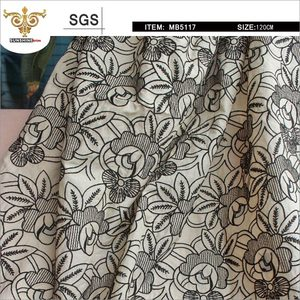 MIX-TIP-MB5117 floral pattern embroidered lace fabric,hollow out embroidered fabrics lace
