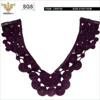 "Mix-top,LW0120 ""V"" shape chemical lace of front neck"