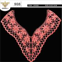 Mix-top,LW0362 Super exquisite Rayon lace, chemical front neck lace