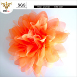 SUNSHINE-MG1142 European style widely used solid chiffon flower brooch