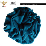 SUNSHINE-MG1147 Dark blue knit fabric flower, purely made by hands